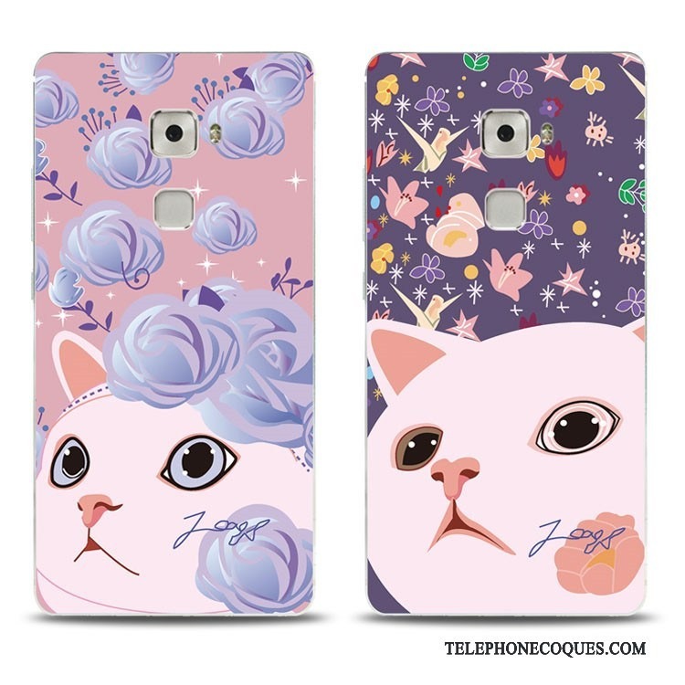 Coque Pour Huawei Mate S Jeunesse Fluide Doux Charmant Support Rose