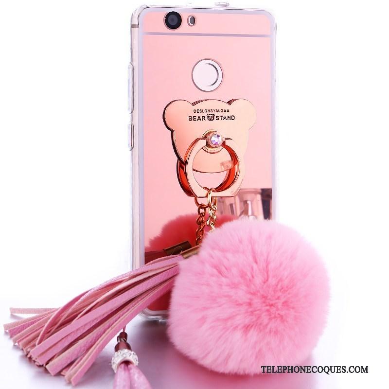 Coque Pour Huawei Nova Étui Ornements Suspendus Miroir Incassable Silicone De Téléphone