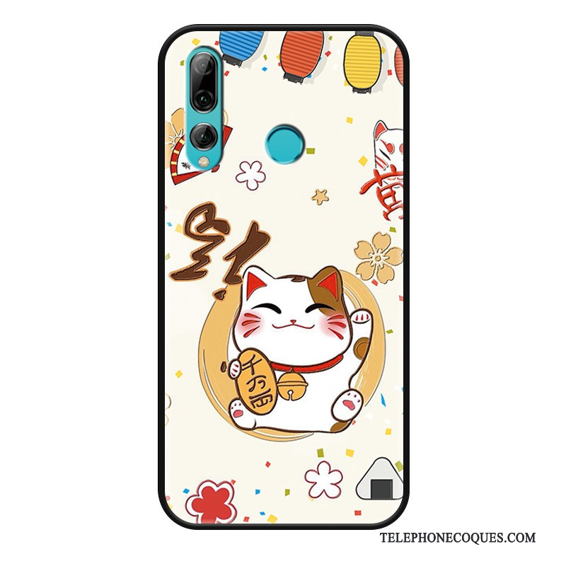 Coque Pour Huawei P Smart+ 2019 Charmant Étui Chat Protection Gaufrage Fluide Doux