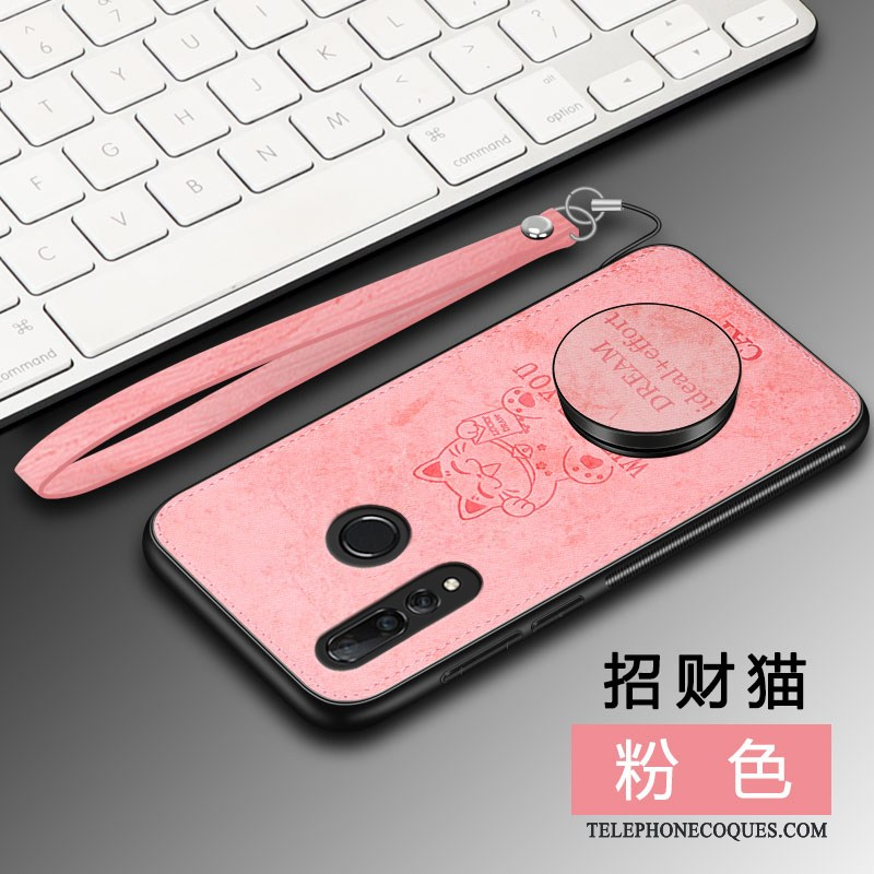 Coque Pour Huawei P Smart+ 2019 Simple Magnétisme Tempérer Incassable Rose Business