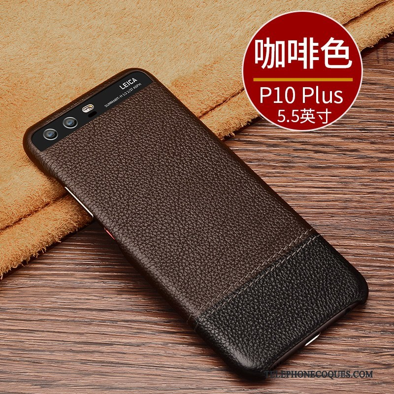 coque p10 huawei cuir