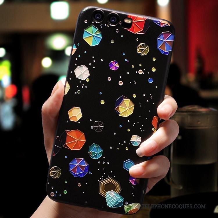 Coque Pour Huawei P10 Plus De Téléphone Noir Silicone Fluide Doux Incassable Tout Compris