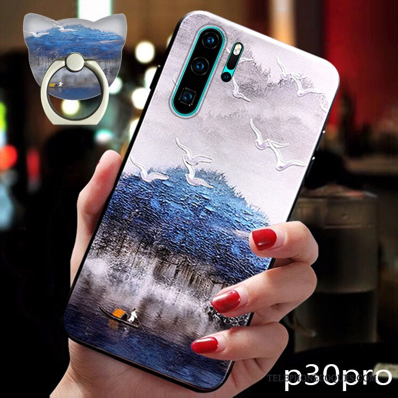 Coque Pour Huawei P30 Pro Tendance Style Chinois Protection Créatif Silicone Très Mince