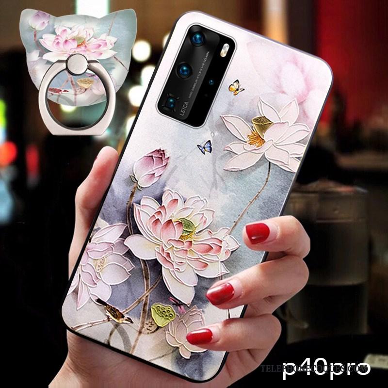 Coque Pour Huawei P40 Pro Protection Étui Silicone Style Chinois Tendance Fluide Doux