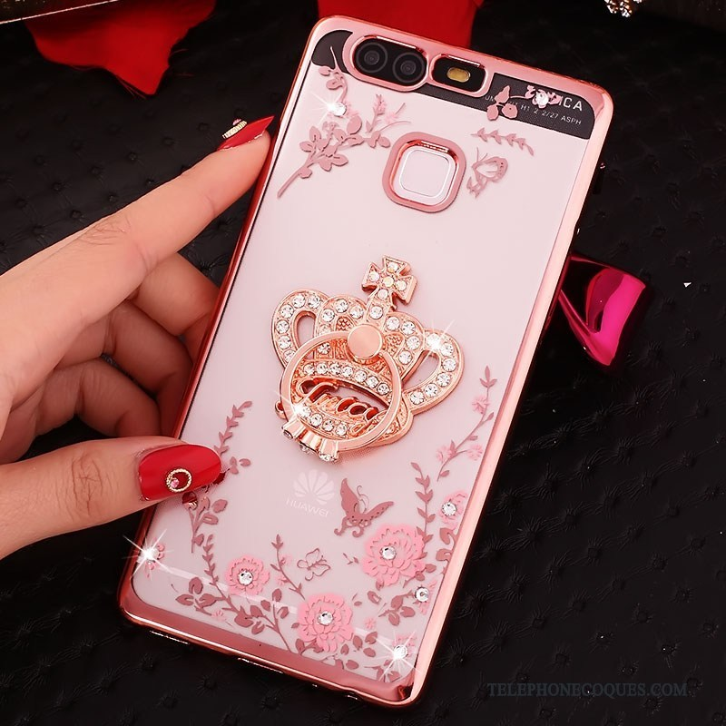 coque huawei p9 or rose