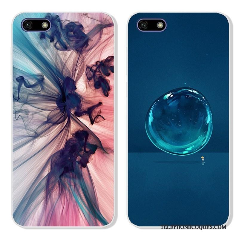 Coque Pour Huawei Y5 2018 Incassable Protection De Téléphone Bleu Étui Dessin Animé