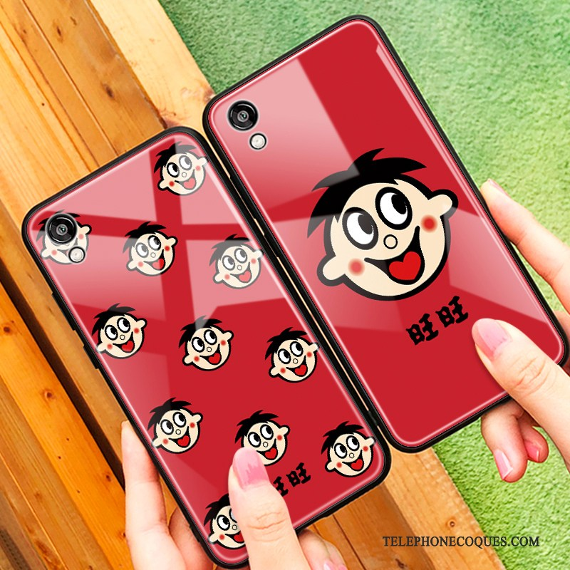 Coque Pour Huawei Y5 2019 Amoureux Simple Rouge Verre Protection