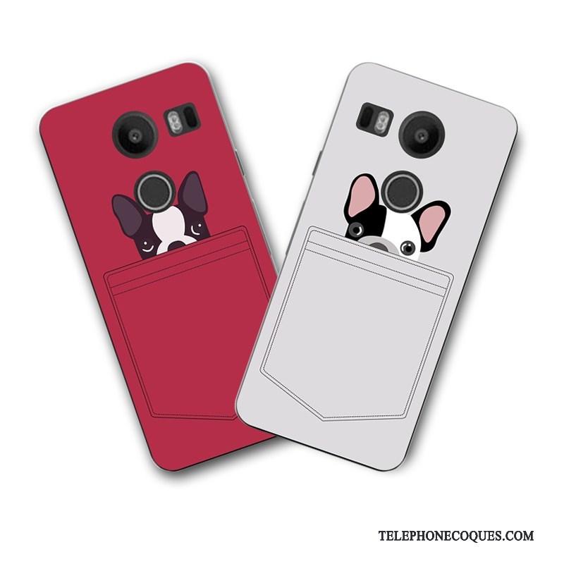 Coque Pour Lg Nexus 5x Dessin Animé Peinture Rouge étui Coque De Téléphone