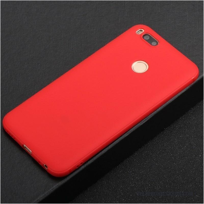 Coque Pour Mi 5x Fluide Doux Silicone Tout Compris Protection Créatif Rouge