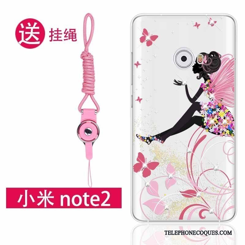 Coque Pour Mi Note 2 Ornements Suspendus Strass Petit Protection Incassable