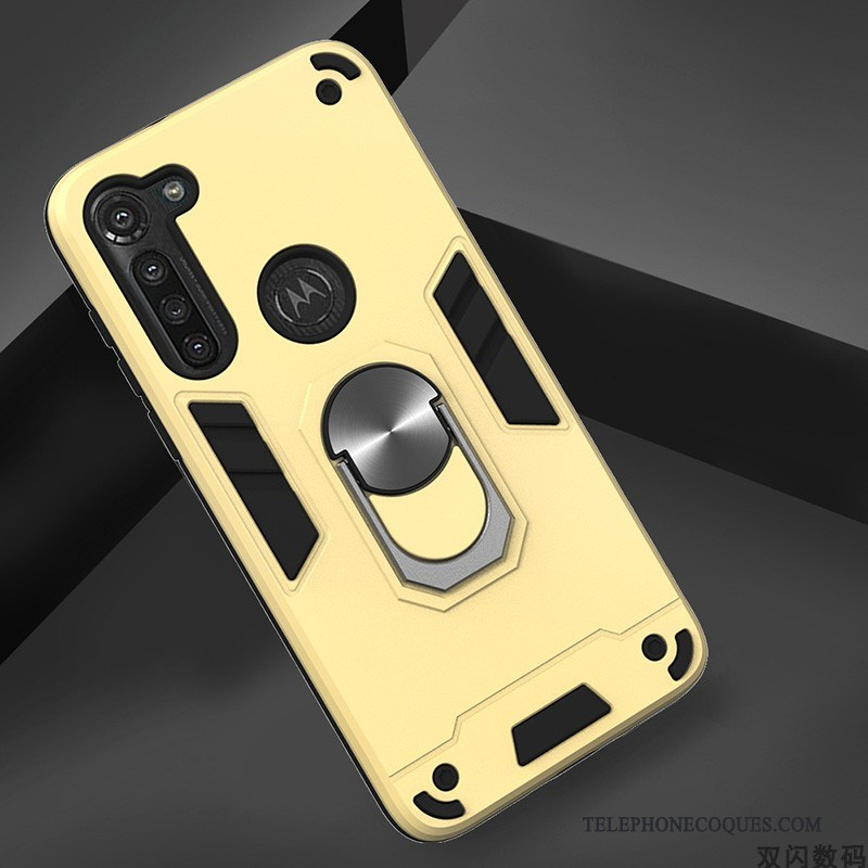 Coque Pour Moto G8 Power Incassable Simple Tendance Étui Jaune Protection