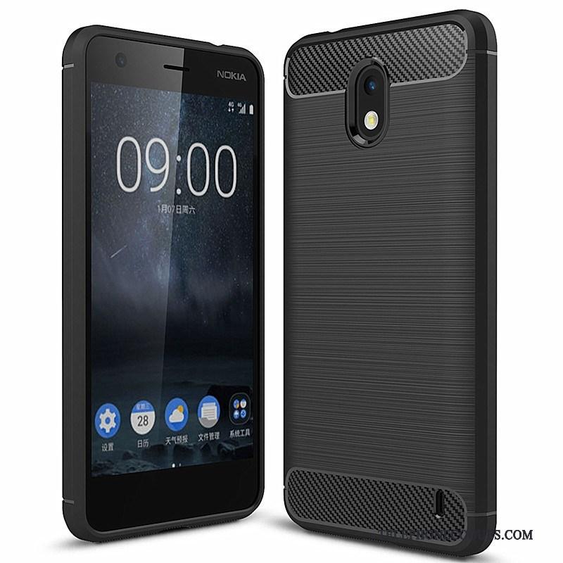 Coque Pour Nokia 2 Téléphone Portable Étui Fibre Noir Mode Incassable Soldes 1daf10a4c06