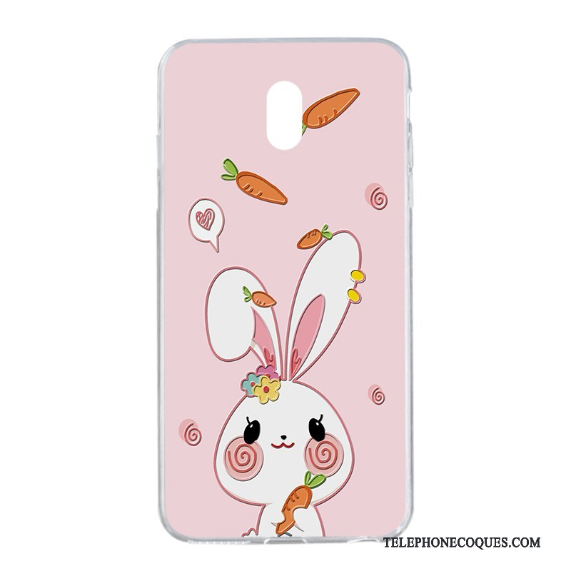 Coque Pour Nokia 3 Lapin Silicone Dessin Animé Rose Gaufrage Rouge