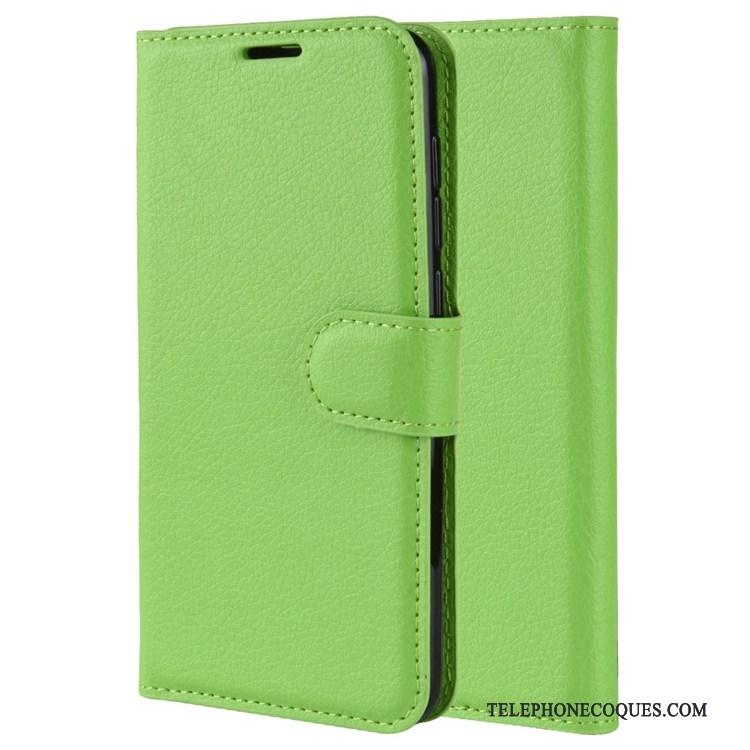 Coque Pour Nokia 5.3 Étui En Cuir Antidérapant Incassable Vert Clamshell Carte
