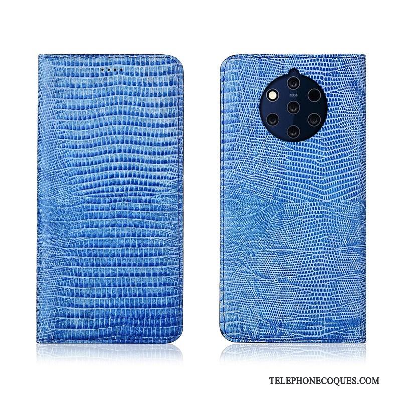 Coque Pour Nokia 9 Pureview De Téléphone Étui Nouveau Fluide Doux Cuir Véritable Clamshell