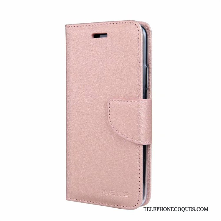 Coque Pour Nokia 9 Pureview Pu Clamshell Carte Mois Protection Rose