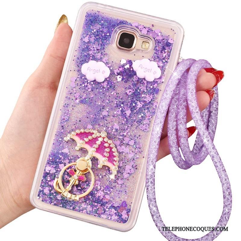 Coque Pour Samsung Galaxy A7 2016 Anneau De Téléphone Protection Étoile Une Agrafe Étui