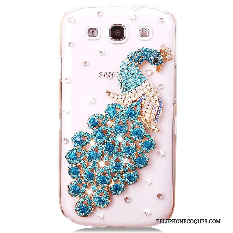 Coque Pour Samsung Galaxy S3 De Téléphone Étui Téléphone Portable Étoile Bleu Strass
