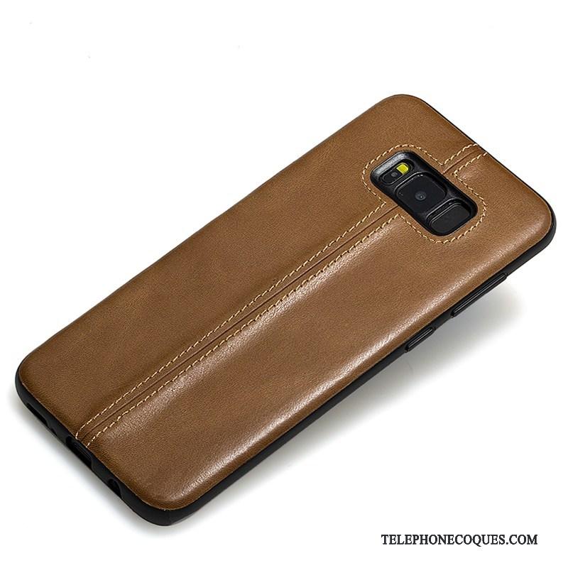 Coque Pour Samsung Galaxy S8+ Cuir Véritable Étoile De Téléphone Étui Étui En Cuir Protection