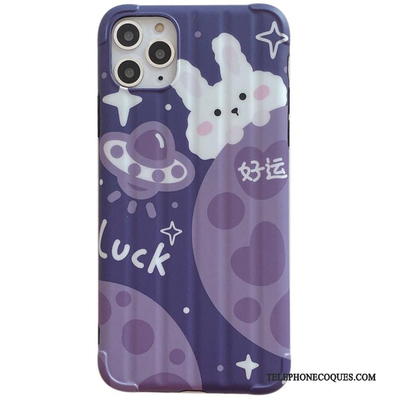 Coque Pour iPhone 11 Pro De Téléphone Nouveau Petit Violet Protection Personnalité
