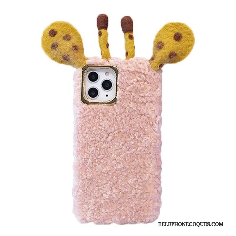 Coque Pour iPhone 11 Pro Max Incassable Charmant Rose Coque De Téléphone Fluide Doux