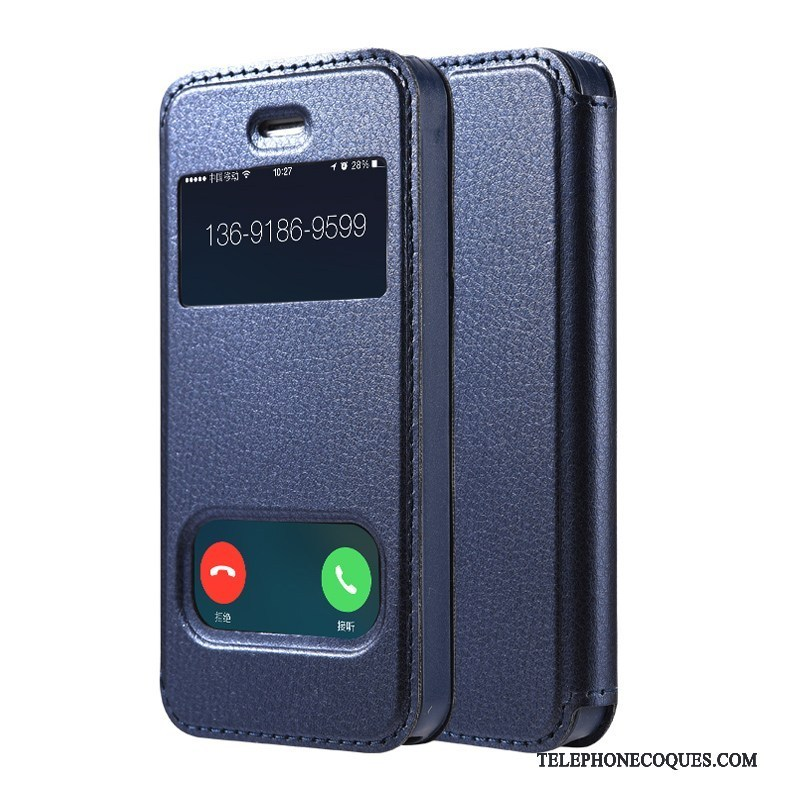 Coque Pour iPhone 4/4s Support Rouge Étui Ornements Suspendus Protection Bleu Marin