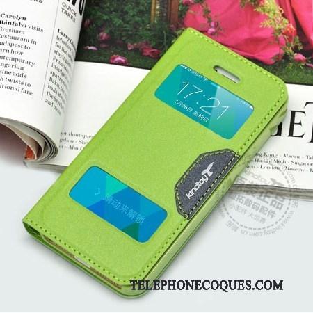 Coque Pour iPhone 5c Protection Housse De Téléphone Vert Étui En Cuir