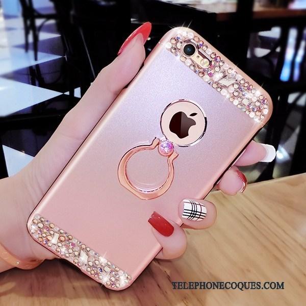 Coque Pour iPhone 6/6s Plus De Téléphone Luxe Or Rose Incassable Strass Support