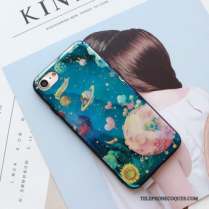 Coque Pour iPhone 7 Nouveau Planète De Téléphone Authentique Univers Bleu