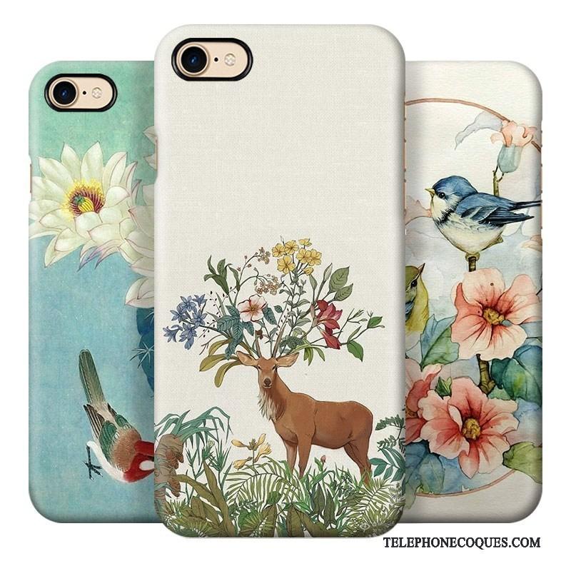 Coque Pour iPhone 7 Plus Vintage Art Difficile De Téléphone Vent 4654