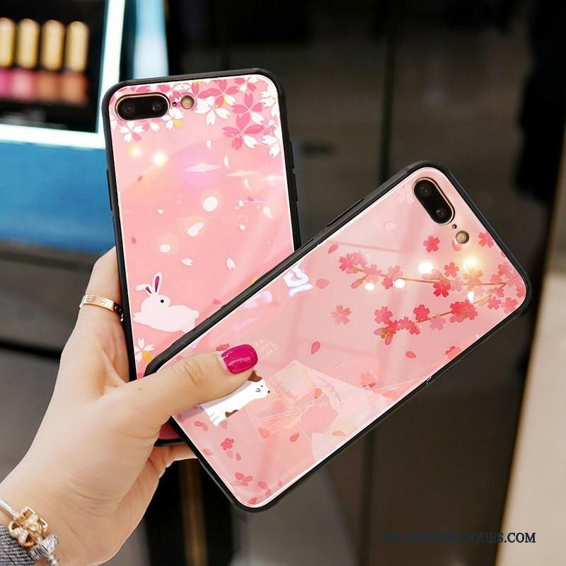 Coque Pour iPhone 7 Protection De Téléphone Étui Rose Net Rouge Miroir