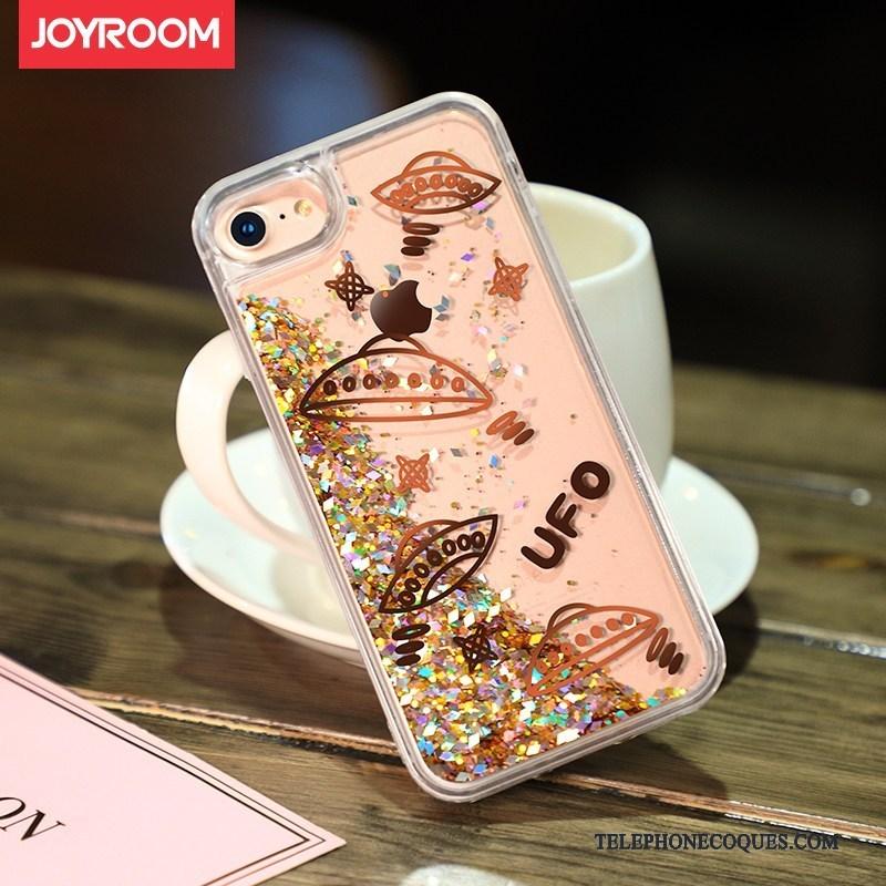 Coque Pour iPhone 7 Quicksand De Téléphone Liquide Nouveau Étui Protection