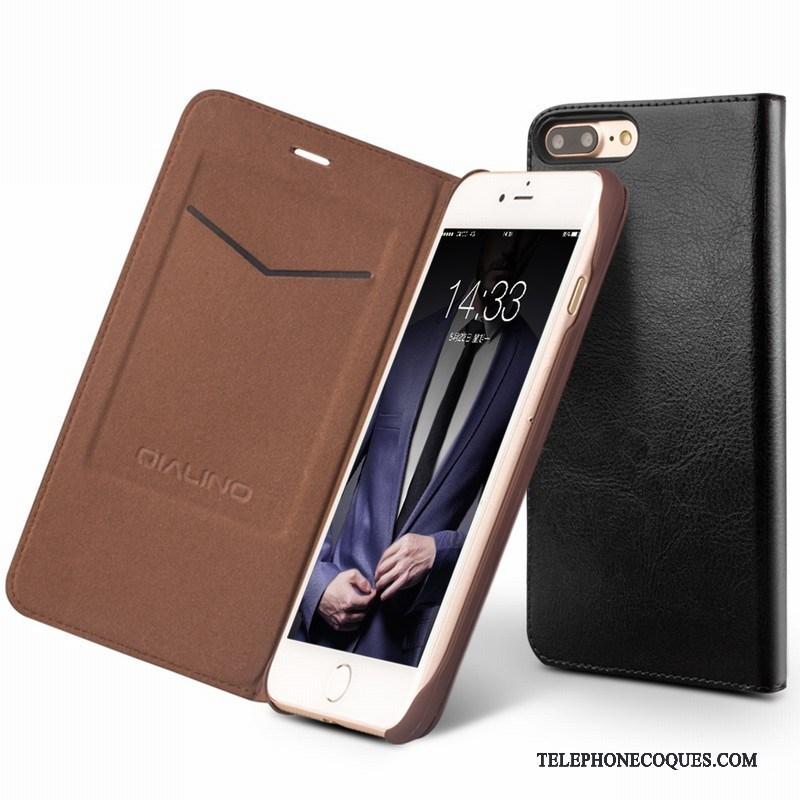 coque iphone 8 plus cuir marron