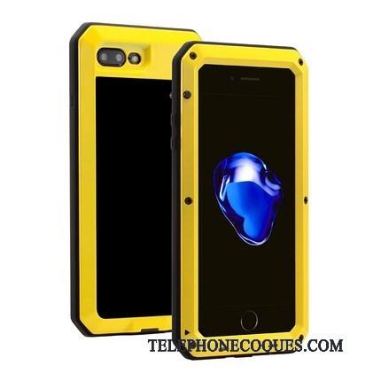 Coque Pour iPhone 8 Plus Incassable Métal Tout Compris Silicone Armure Fluide Doux 5081