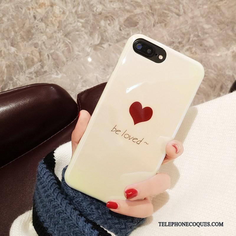 Coque Pour iPhone 8 Plus Personnalité Tendance Étui Amour Silicone