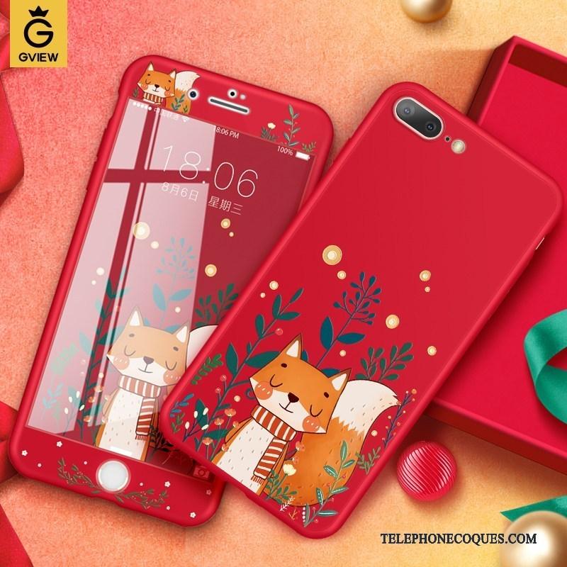 iphone 8 plus coque silicone rouge