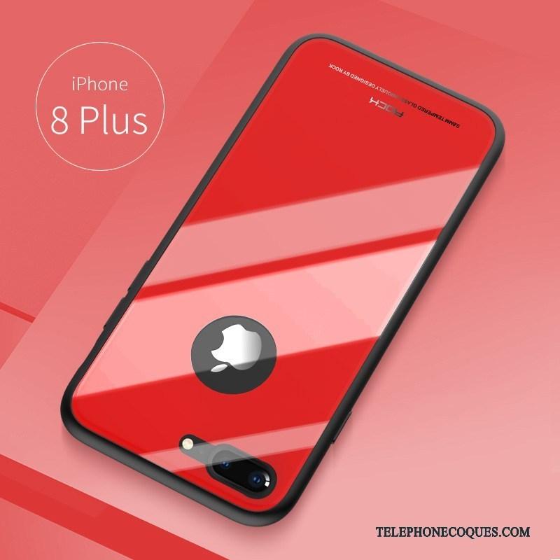 Coque Pour iPhone 8 Plus Rouge Tout Compris Fluide Doux De Téléphone Étui