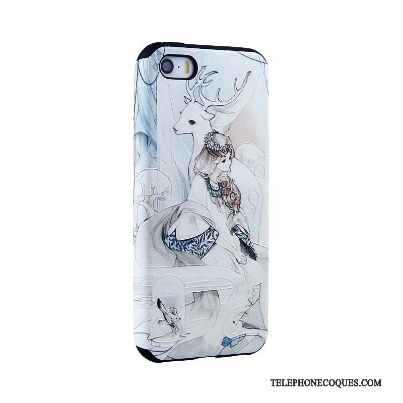 Coque Pour iPhone Se Dessin Animé Peinture Étui Gaufrage De Téléphone Tendance 3883
