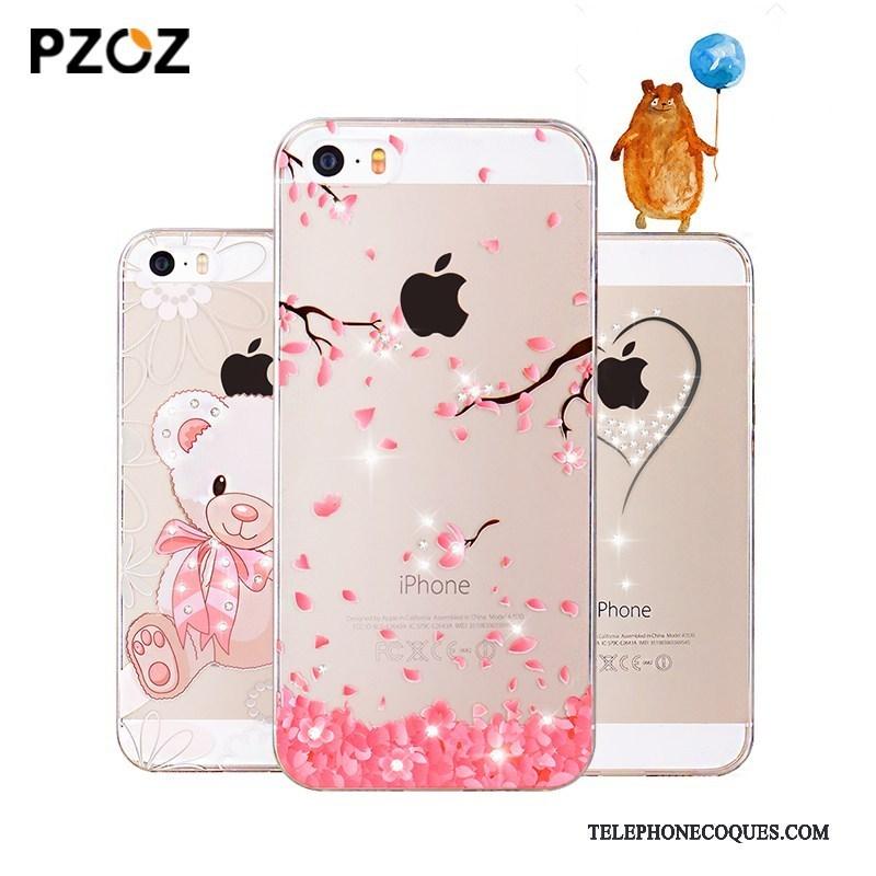 Coque Pour iPhone Se Silicone De Téléphone Super Mignon Tout Compris Tendance Charmant 3845