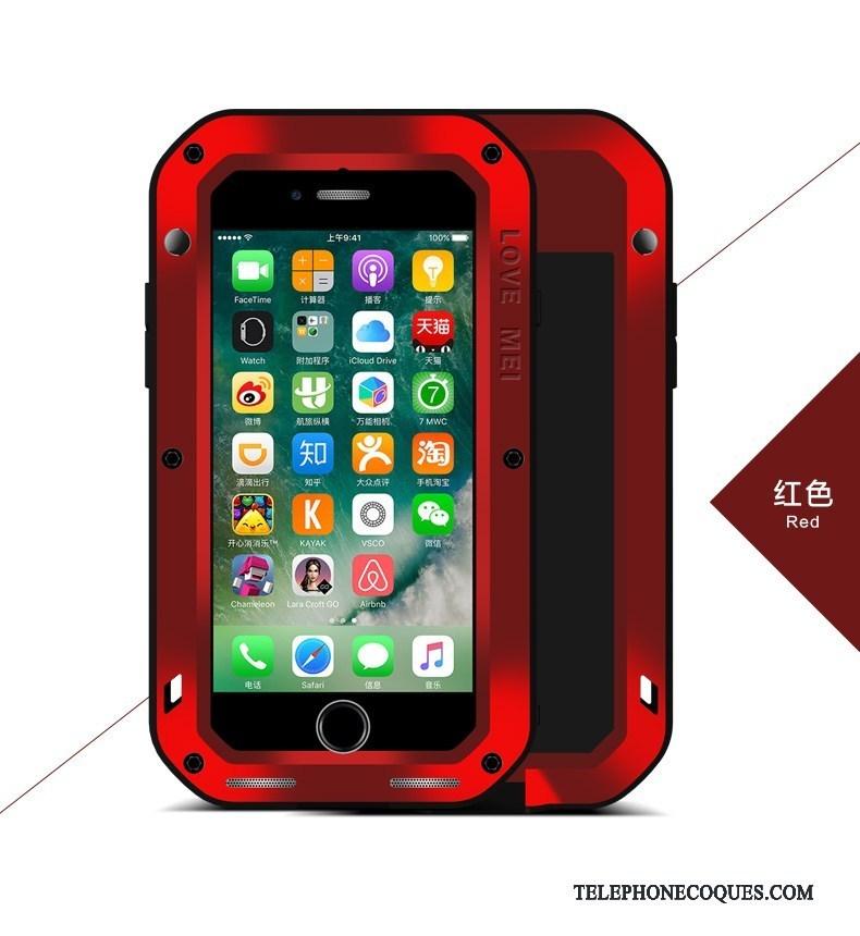 Coque Pour iPhone X Décompression Métal Outdoor De Téléphone Rouge Incassable