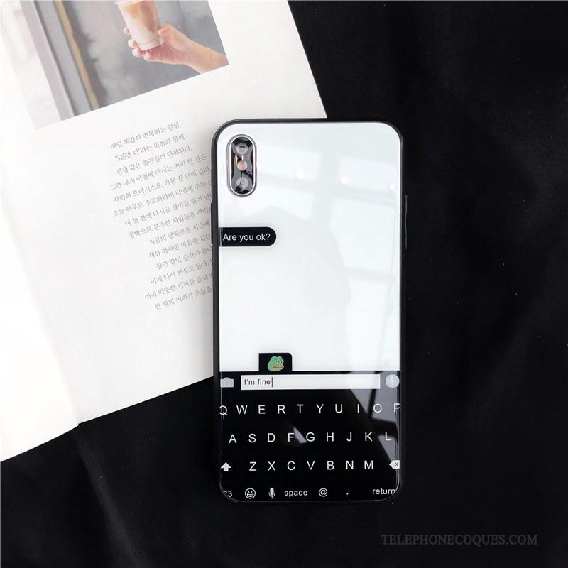 Coque Pour iPhone Xs Max Verre Net Rouge Nouveau De Téléphone Luxe Étui 12588